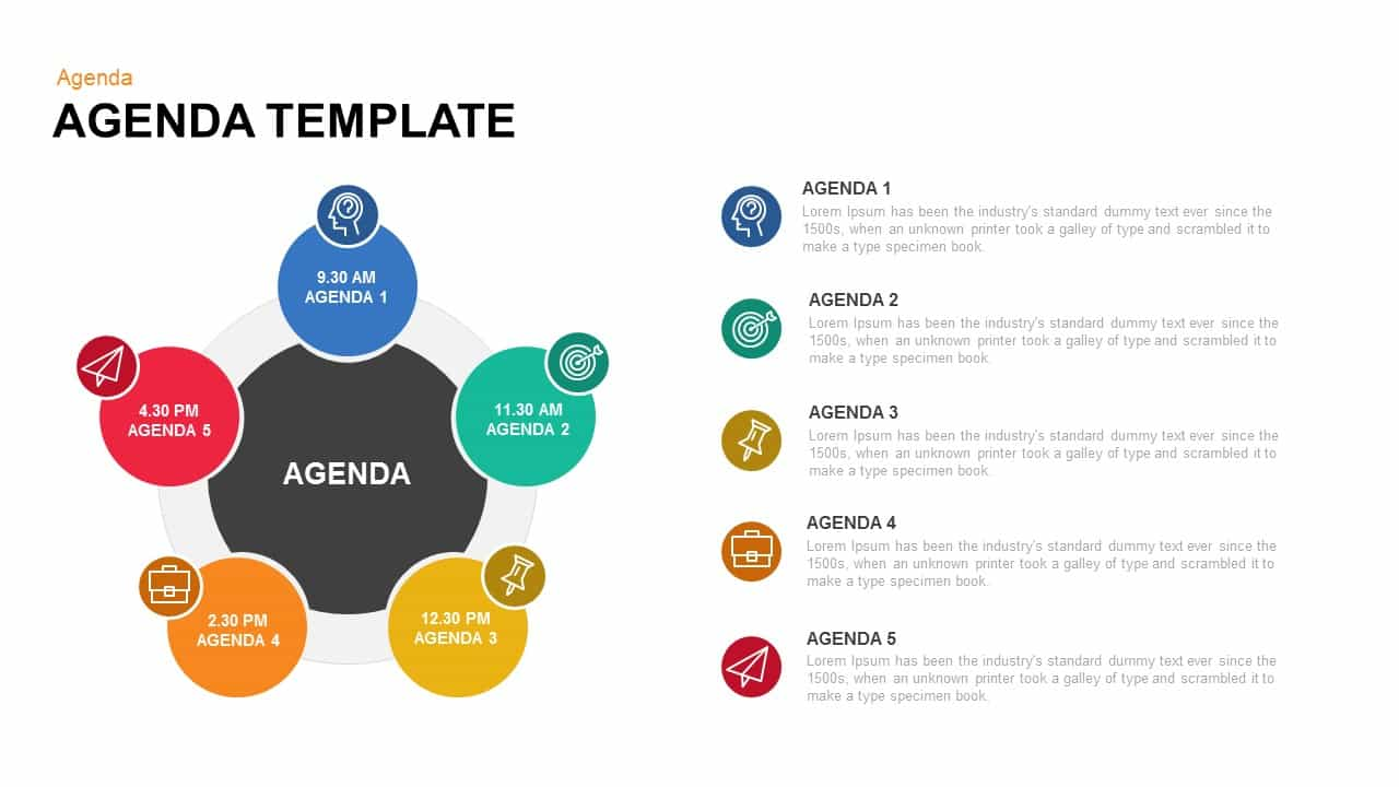 Agenda Template Keynote Template  Agenda Design Templates