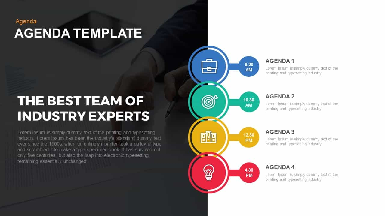 Agenda powerpoint and keynote template slidebazaar for What is a template in powerpoint