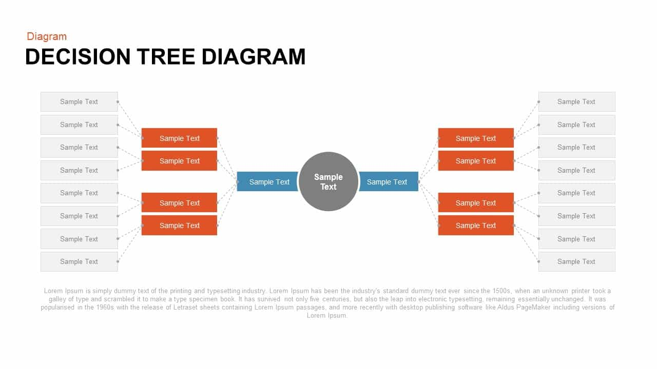 Decision tree PowerPoint template and keynote