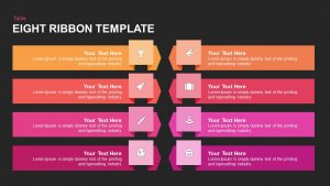 8 Ribbon PowerPoint Template & Keynote Diagram
