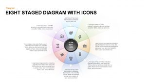 Eight Staged Diagram with Icons Free PowerPoint Template