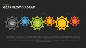 Gear Flow Diagram PowerPoint Template and Keynote Slide