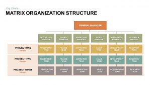 Matrix Organizational Structure PowerPoint Template & Keynote