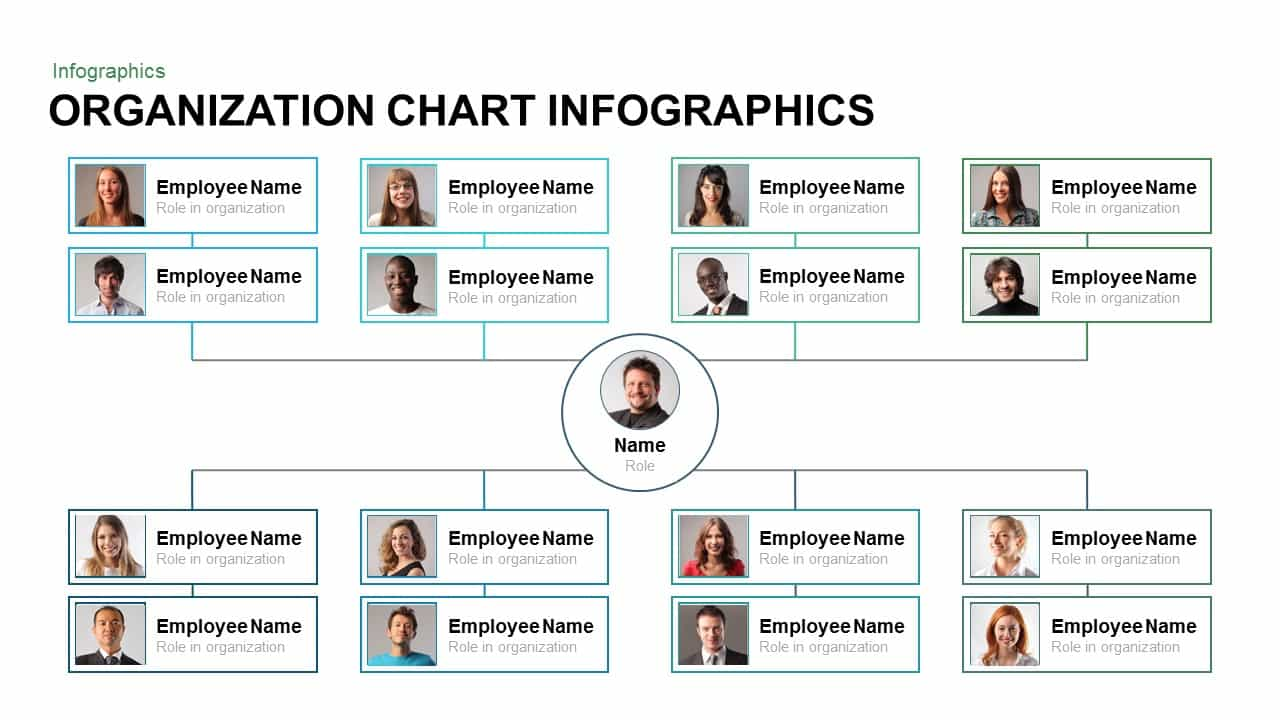 Organization chart infographic template for powerpoint and keynote slide toneelgroepblik Images