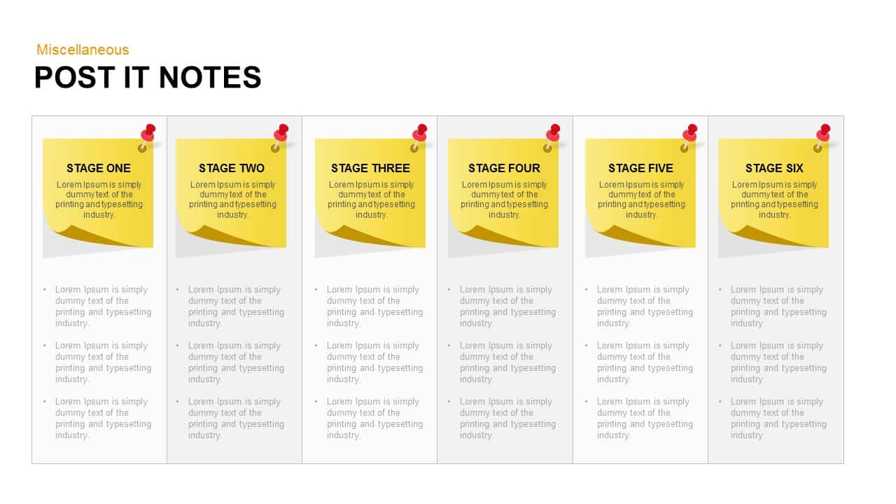 Post It Notes Powerpoint and Keynote template