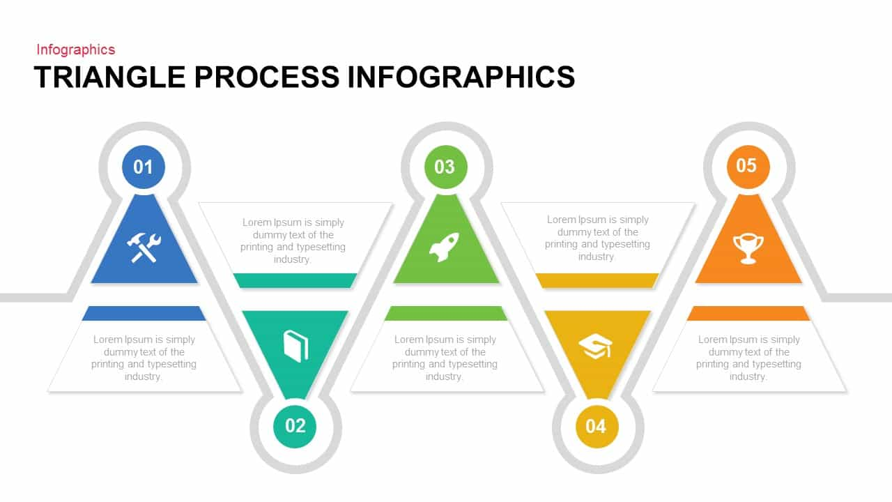 Triangle Process Infographics Powerpoint template