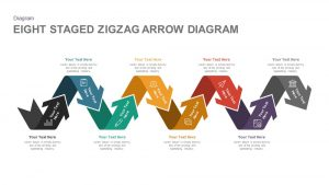 8 Staged Zigzag Arrow Diagram PowerPoint Template and Keynote
