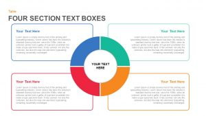 Four Section Text Boxes in PowerPoint and Keynote Template