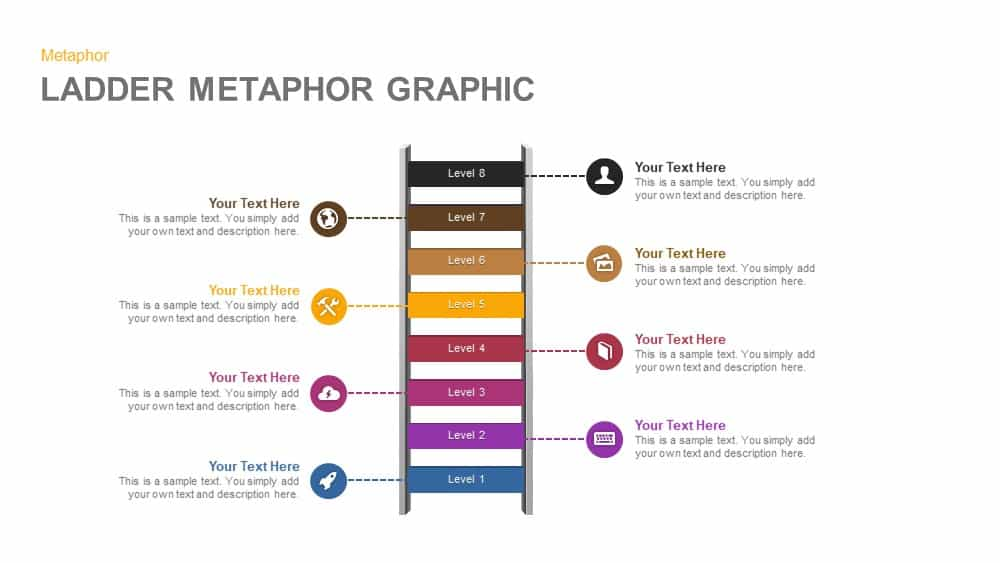 Ladder Metaphor Graphic Powerpoint and Keynote template