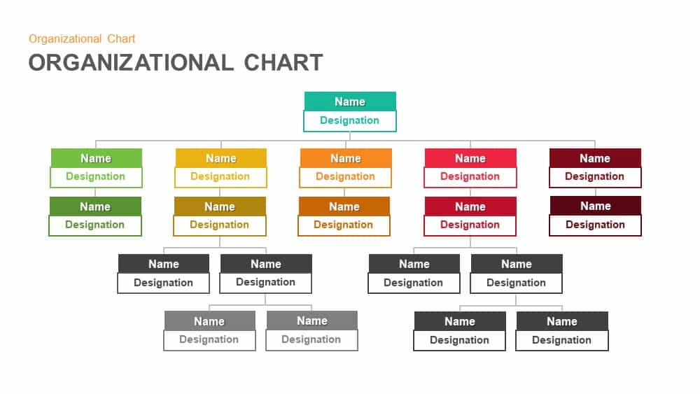 Organizational Chart Hierarchy Templates for PowerPoint and Keynote