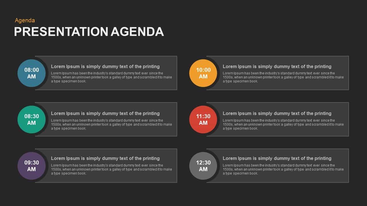 Presentation Agenda Powerpoint template