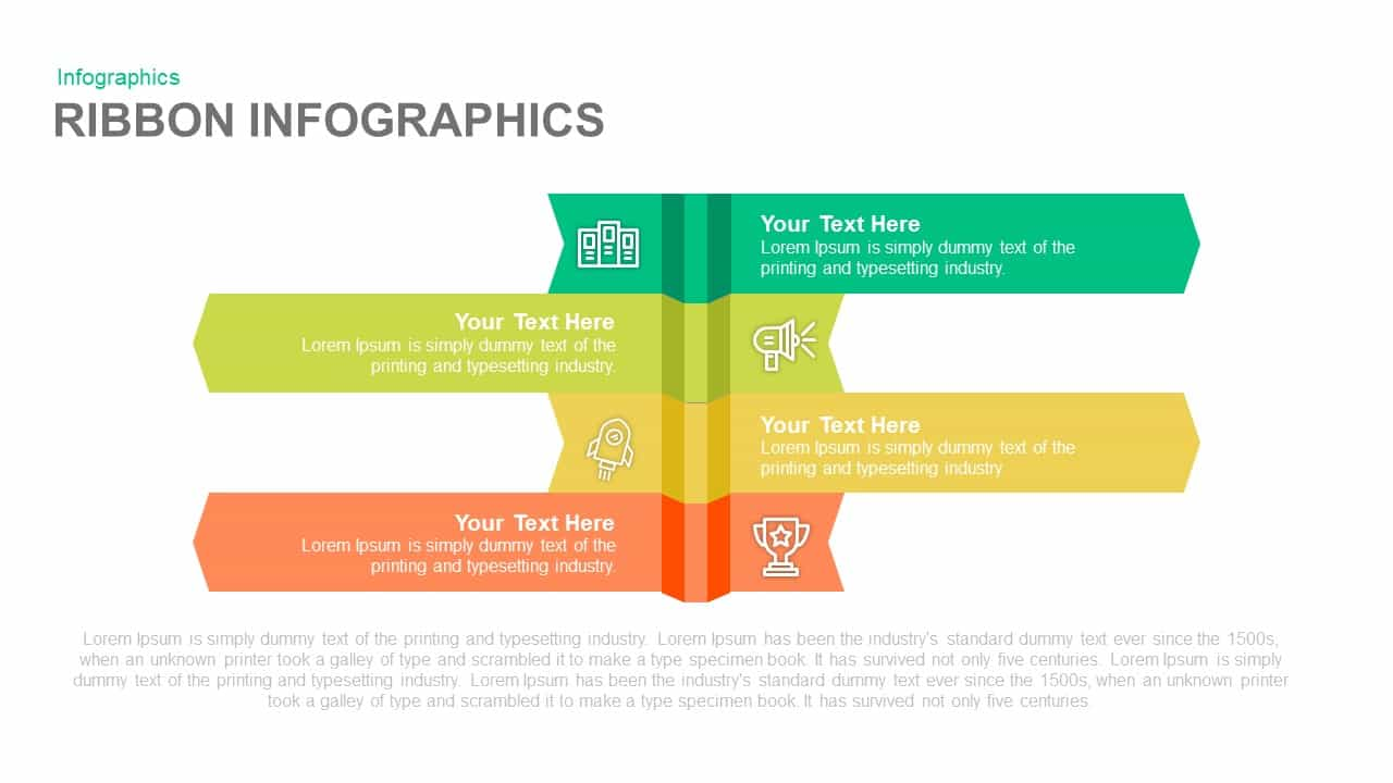 Ribbon Infographics Powerpoint and Keynote template