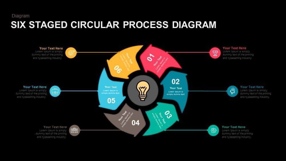6 staged circular process diagram powerpoint and keynote template six staged circular process diagram powerpoint and keynote template toneelgroepblik Images