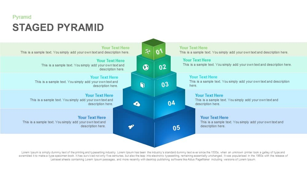 Staged Pyramid PowerPoint Template and Keynote Slide