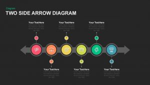 Two Sided Arrow Diagram PowerPoint Template and Keynote Slide