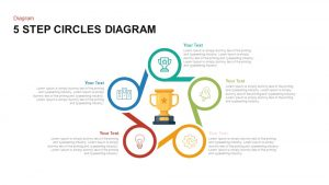 5 Step Circles Diagram Template for PowerPoint and Keynote