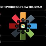 Eight Staged Process Flow Diagram Powerpoint and Keynote template