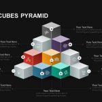 Stacked Cubes Pyramid PowerPoint template