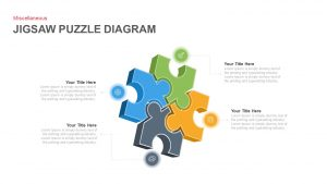 Jigsaw Puzzle Diagram Template for PowerPoint and Keynote