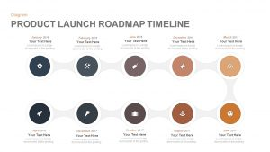 Product Launch Roadmap Timeline Template for PowerPoint and Keynote