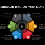 Six Stage Circular Diagrams with Icons PowerPoint template