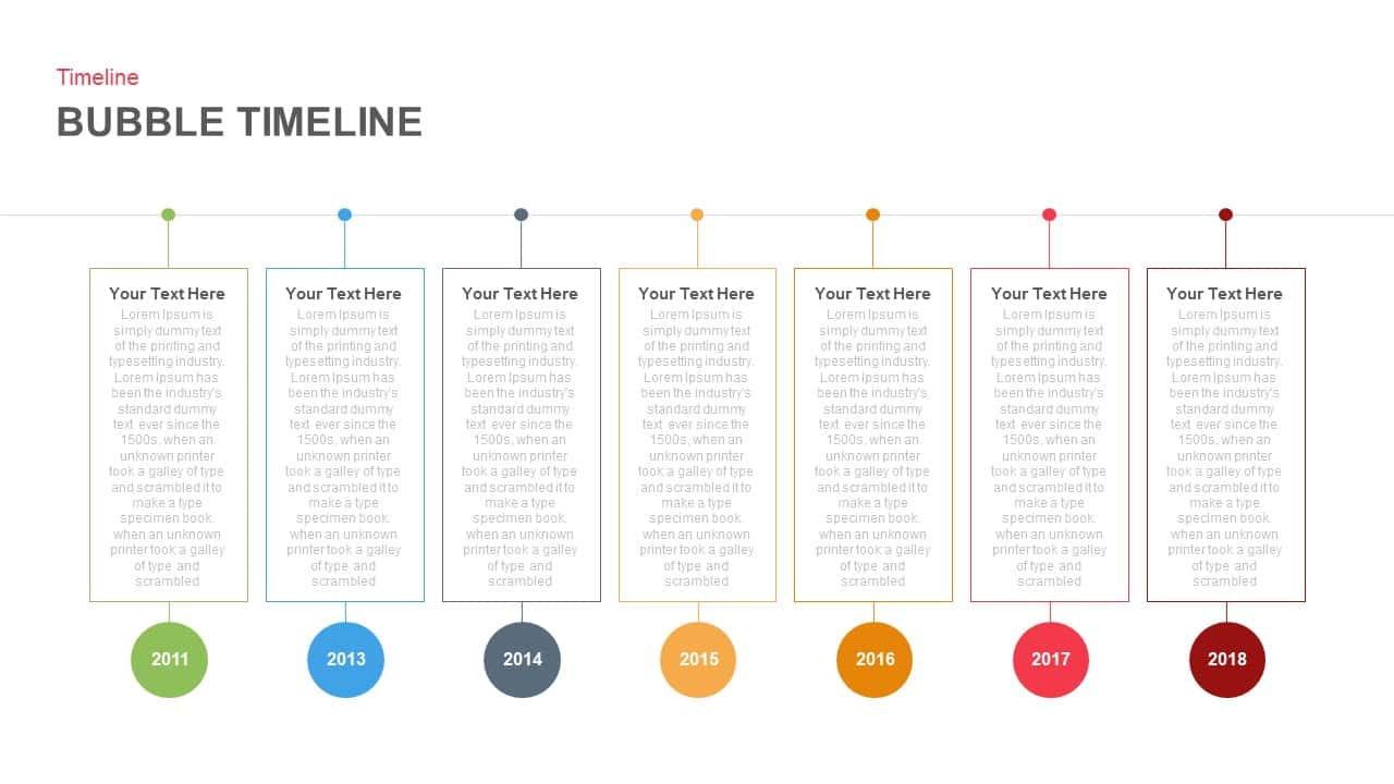Bubble Timeline PowerPoint and Keynote template