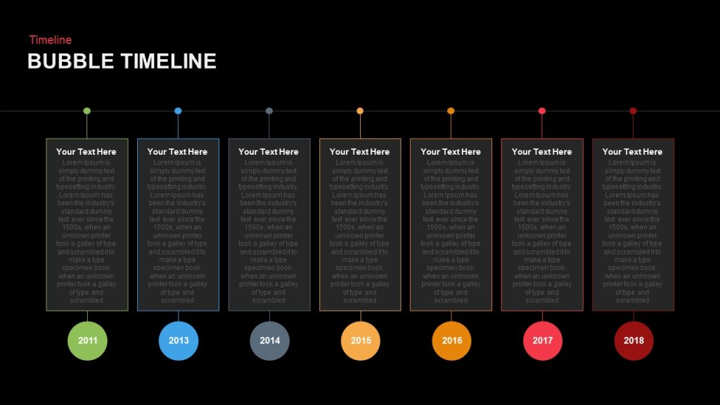 bubble timeline powerpoint and keynote template slidebazaar. Black Bedroom Furniture Sets. Home Design Ideas