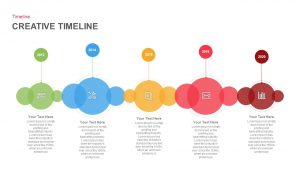 Creative Timeline PowerPoint Template and Keynote Slide