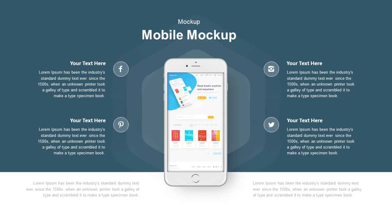Mobile Mockup Powerpoint and Keynote template