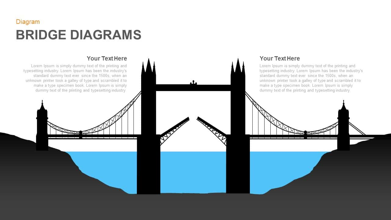 Bridge Diagram PowerPoint Template and Keynote Slide