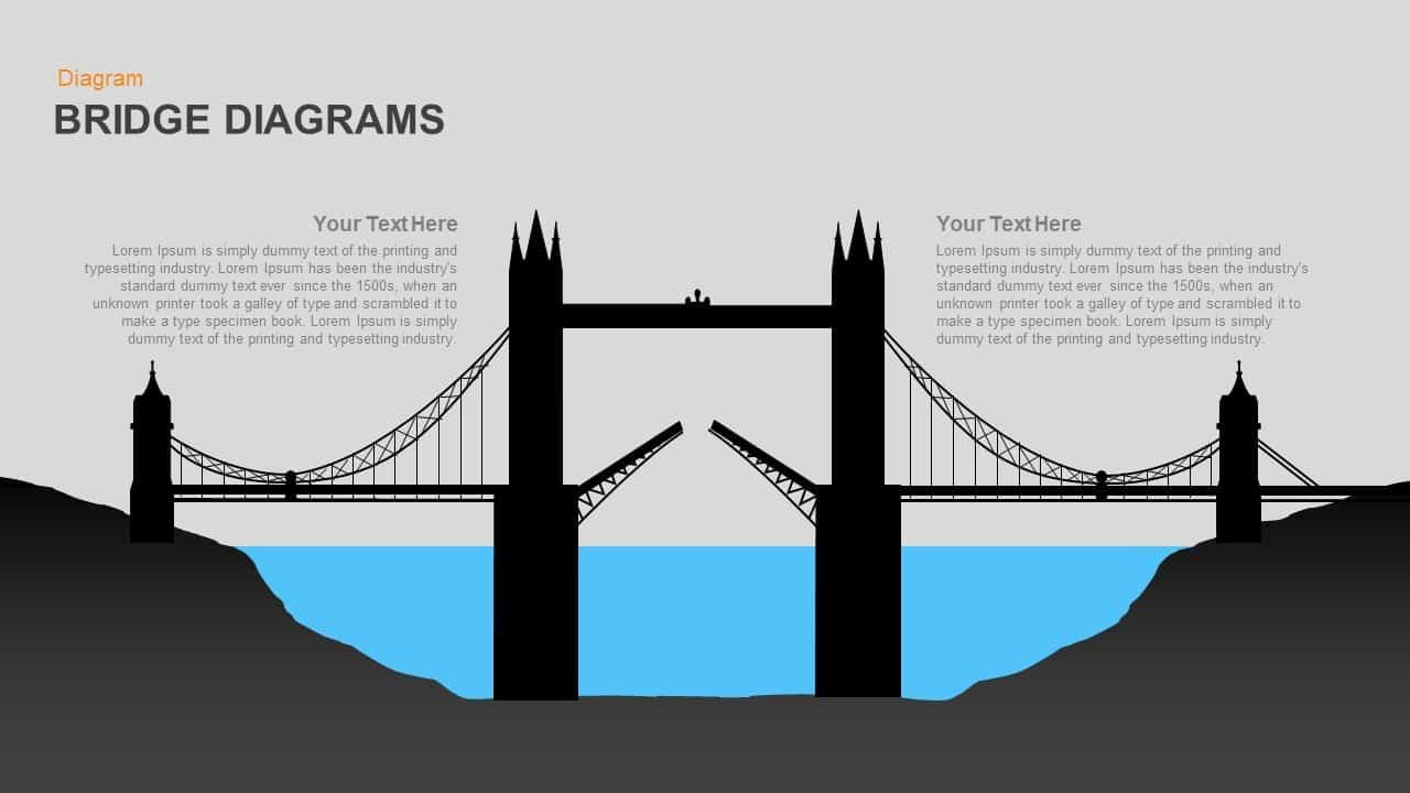 Bridge Diagrams PowerPoint template