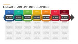 Linear Infographics Chain Link PowerPoint Template and Keynote Slide