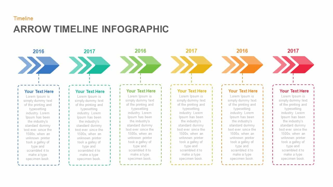 Arrow Timeline PowerPoint Template and Keynote