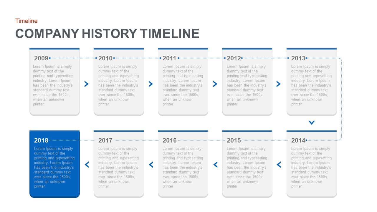 Company history timeline template powerpoint and keynote template toneelgroepblik Image collections