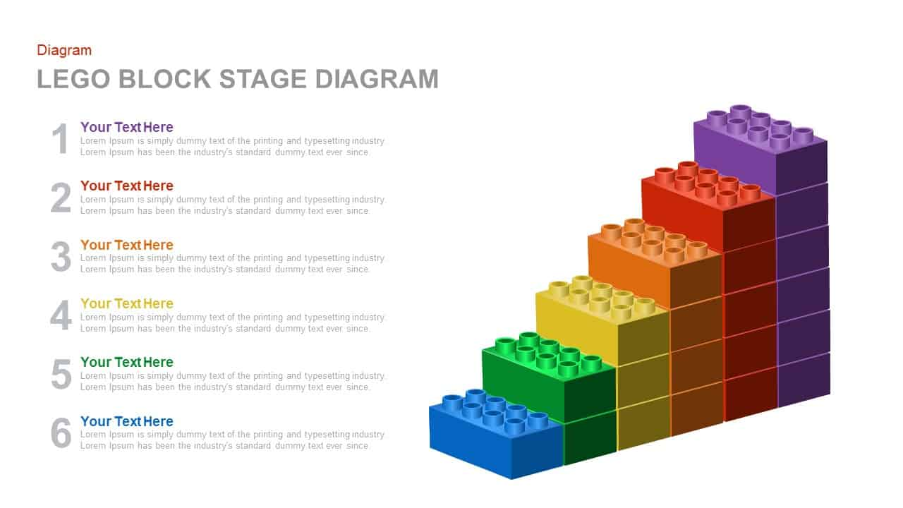 lego block stage diagram powerpoint and keynote template slidebazaar
