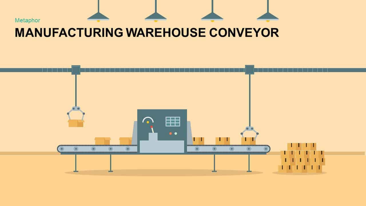 Manufacturing warehouse conveyor powerpoint template keynote manufacturing warehouse conveyor powerpoint template ccuart Images