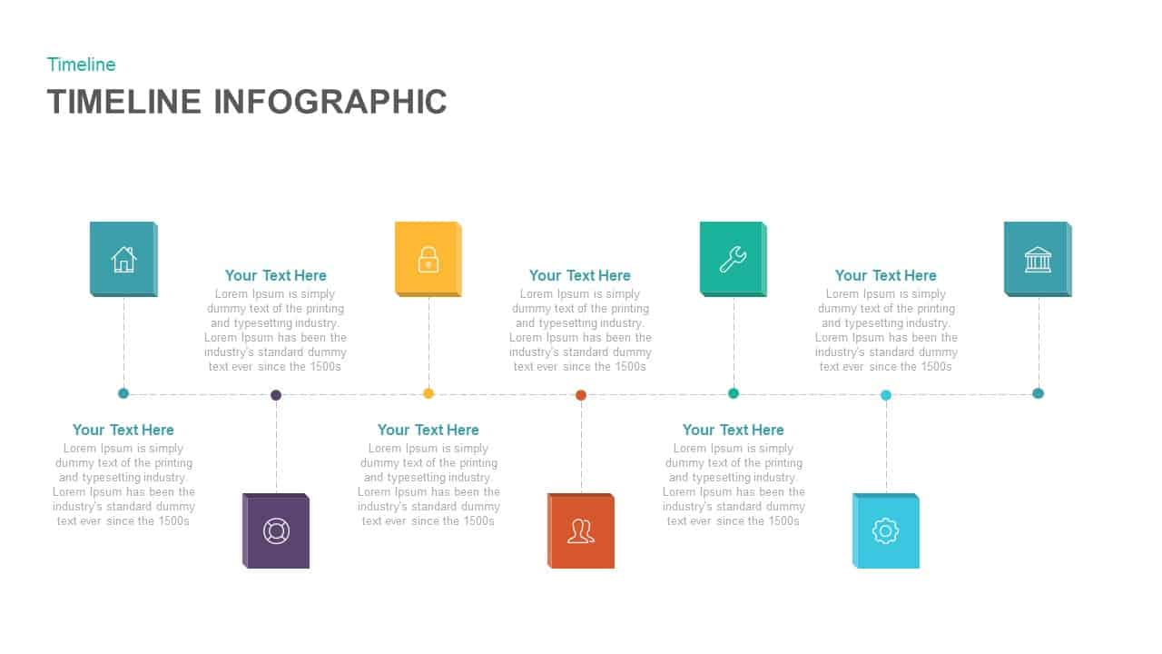 Timeline Infographic Keynote template