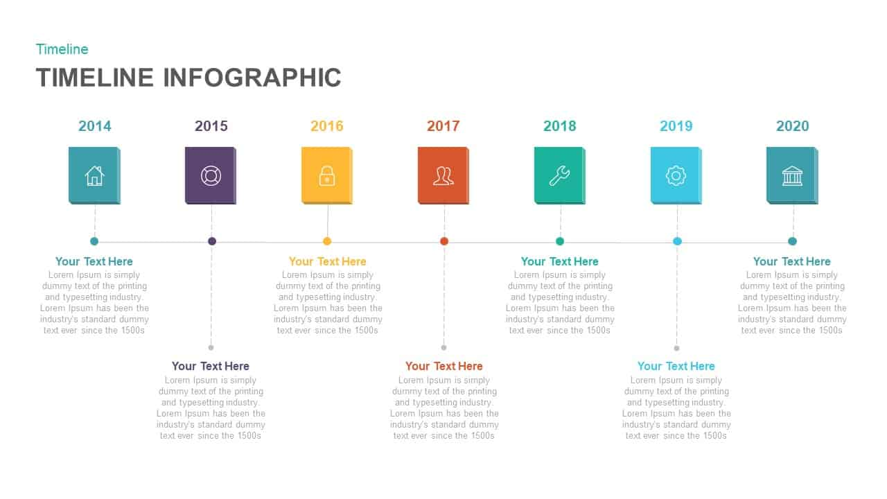 Timeline infographic powerpoint and keynote template for Timeline template in powerpoint 2010