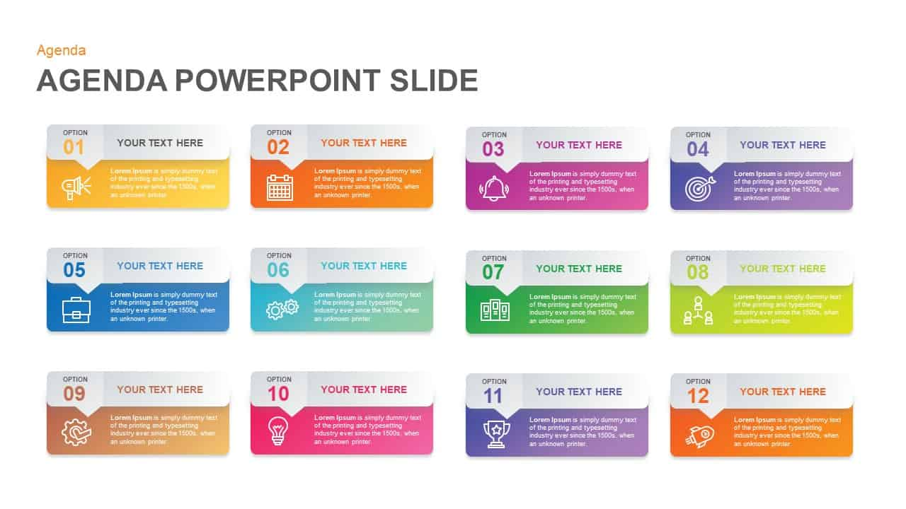 Agenda PowerPoint Template - Slidebazaar