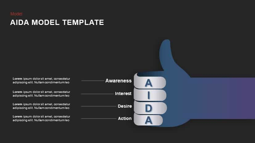 Aida Model PowerPoint Template