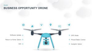 Drone PowerPoint Template and Keynote for Business Opportunity Slide Presentation
