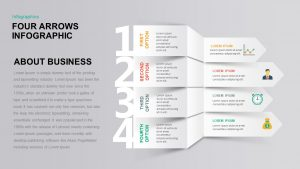 4 Arrows Infographic PowerPoint Template & Keynote Presentation