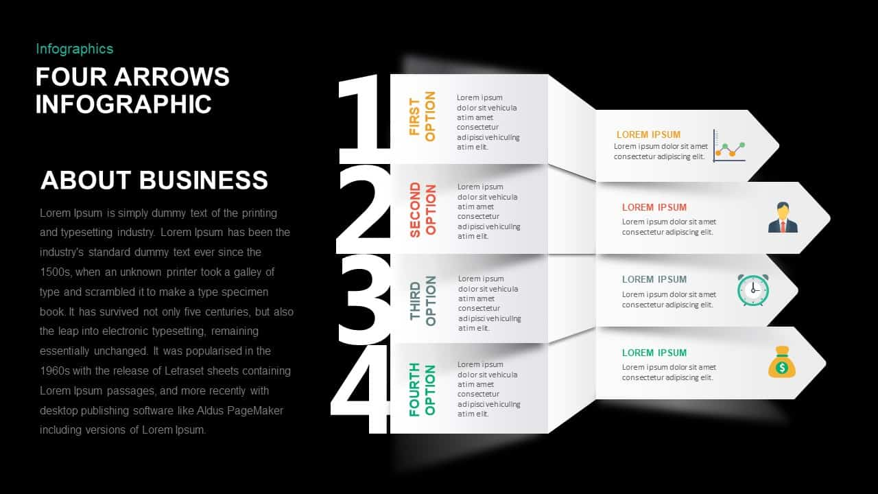 Four Arrows Infographic PowerPoint Templates
