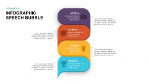 Infographic Speech Bubble PowerPoint Template & Keynote Slide