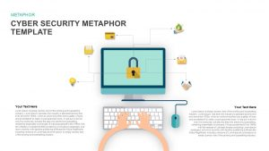 Metaphor Cyber Security PowerPoint Template and Keynote Slide