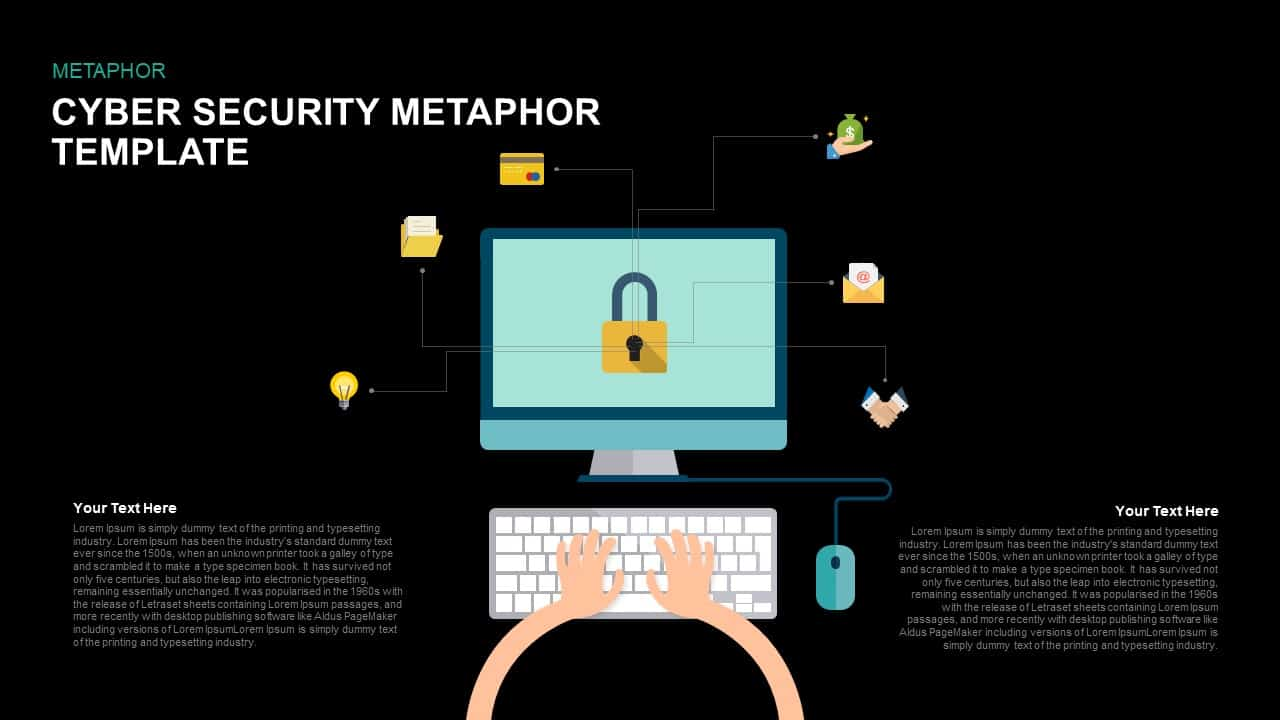 Metaphor Cyber Security PowerPoint Template