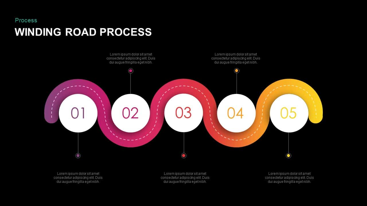 winding road powerpoint template keynote presentation slidebazaar