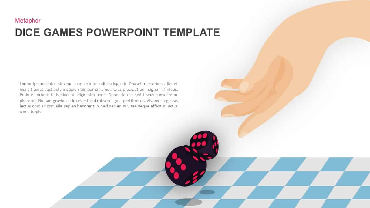 dice gaming powerpoint template and keynote slide