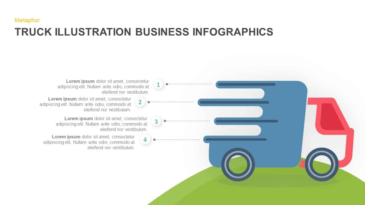 Truck Illustration Business Infographics Template
