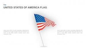 United States of America Flag PowerPoint Template and Keynote Slide